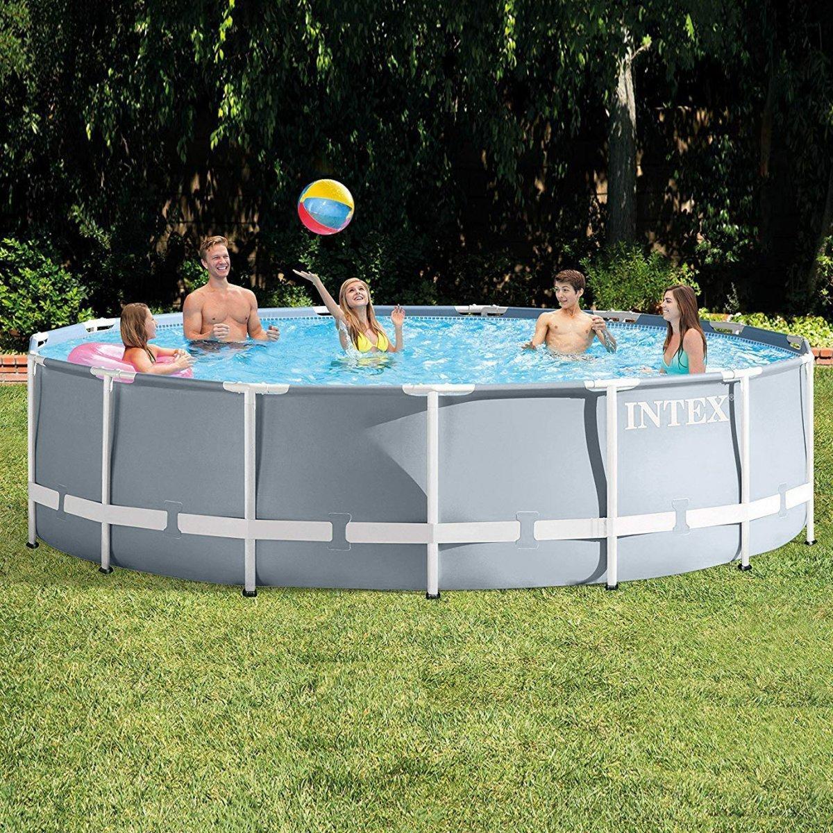 Каркасный бассейн Intex Prism Frame Pool 26706 366 см х 122 см с фильтрующим насосом и лестницей