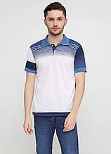 Кольорова футболка-поло для чоловіків Chiarotex в смужку L