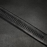 Чоловічий шкіряний ремінь автомат з натуральної шкіри. Чоловічий ремінь пояс для джинсів (срібло), фото 3