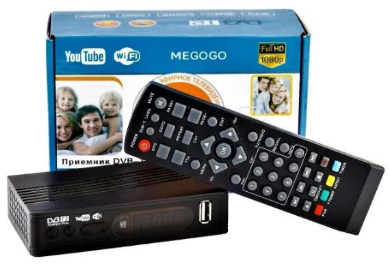 Тюнер ресивер Т2 MEGOGO цифровая приставка для просмотра цифрового телевидения DVB-T2, Wi-Fi, IPTV, USB