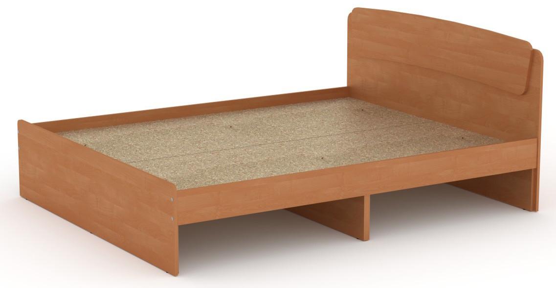 Кровать без ящиков Классика-160 КОМПАНИТ Ольха (204.2х165.2х86 см)