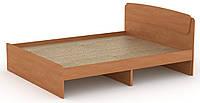 Кровать без ящиков Классика-160 КОМПАНИТ Ольха (204.2х165.2х86 см), фото 1