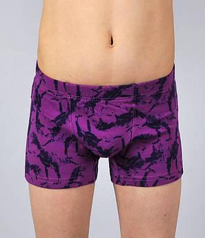 Трусы- боксеры Natural Club  #1086 122 см фиолетовый, фото 2