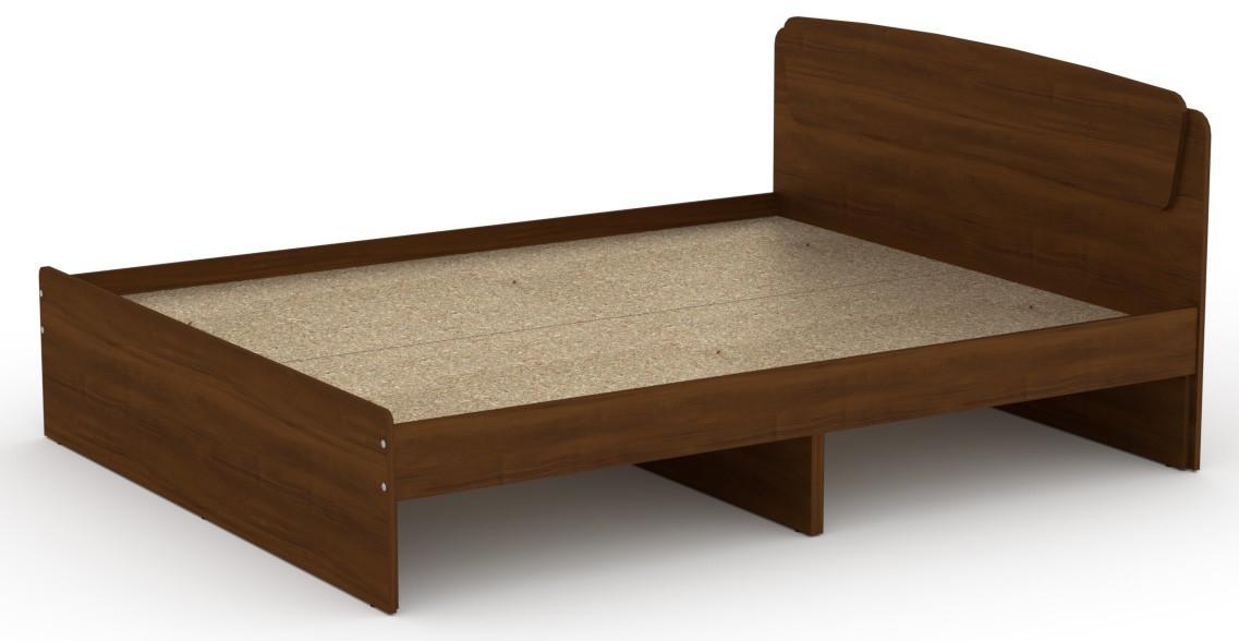 Кровать без ящиков Классика-160 КОМПАНИТ Орех экко (204.2х165.2х86 см)