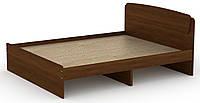 Кровать без ящиков Классика-160 КОМПАНИТ Орех экко (204.2х165.2х86 см), фото 1