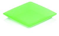 Тарелка пластиковая квадратная малая  (19 X 19 X 2 см)