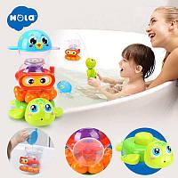 Детский набор игрушек для купания (черепаха, осьминог, рыбка)