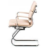 Компьютерное кресло Special4YouSolano-3 бежевого цвета на полозьях хром