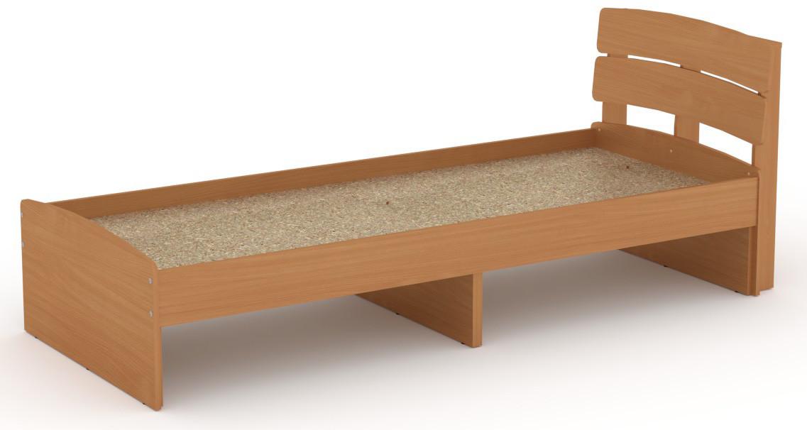 Кровать без ящиков Модерн-80 КОМПАНИТ Бук (213.2х85.2х80 см)