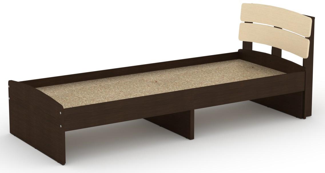 Кровать без ящиков Модерн-80 КОМПАНИТ Венге комби (213.2х85.2х80 см)