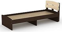 Кровать без ящиков Модерн-80 КОМПАНИТ Венге комби (213.2х85.2х80 см), фото 1