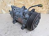 Компресор кондиціонера Peugeot 206 307 Citroen C4 1.4 1.6 1.9 2.0 HDi, 9682930280, 9639078280, фото 5