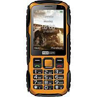 Кнопочный телефон влагозащищенный, противоударный с камерой на 2 sim Maxcom MM920 Black-Yellow