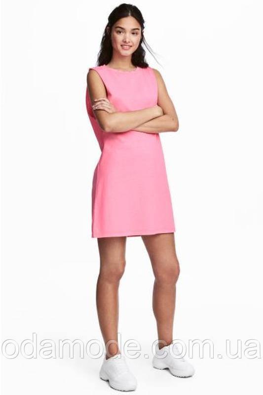 Платье женское мини летнее розовоеH&M