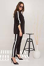 костюм женский Modus Макеба апгрейт полоска принт костюмка стрейч костюм 9061, фото 2