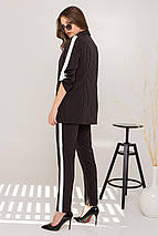 костюм женский Modus Макеба апгрейт полоска принт костюмка стрейч костюм 9061, фото 3