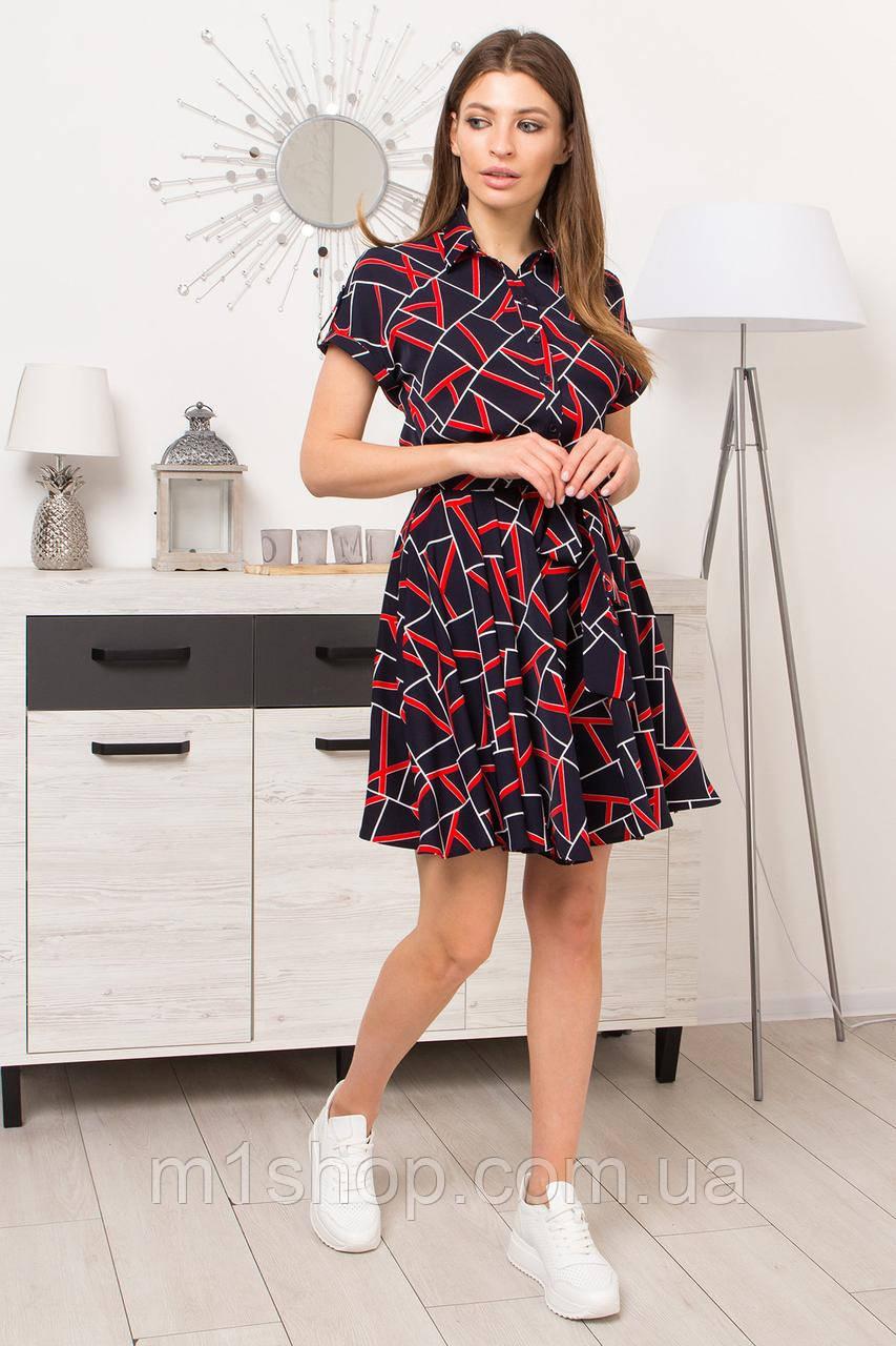 платье Modus Санжар костюмка-софт принт горох платье 9067