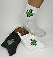 """Шкарпетки чоловічі середньої висоти """"Кактуси"""". Р-Р 42-45. (Роздріб)."""