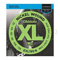 D'Addario EXL165-6 Nickel Wound Custom Light Electric Bass 6 Strings 32/135