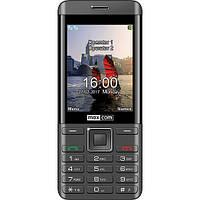 Кнопочный телефон с удобными кнопками и большим дисплеем на 2 sim Maxcom MM236 Black-SIlver