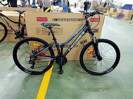 """Подростковый горный велосипед Crosser levin 24 дюймов размер рамы 12""""  BLACK-BLUE, фото 2"""