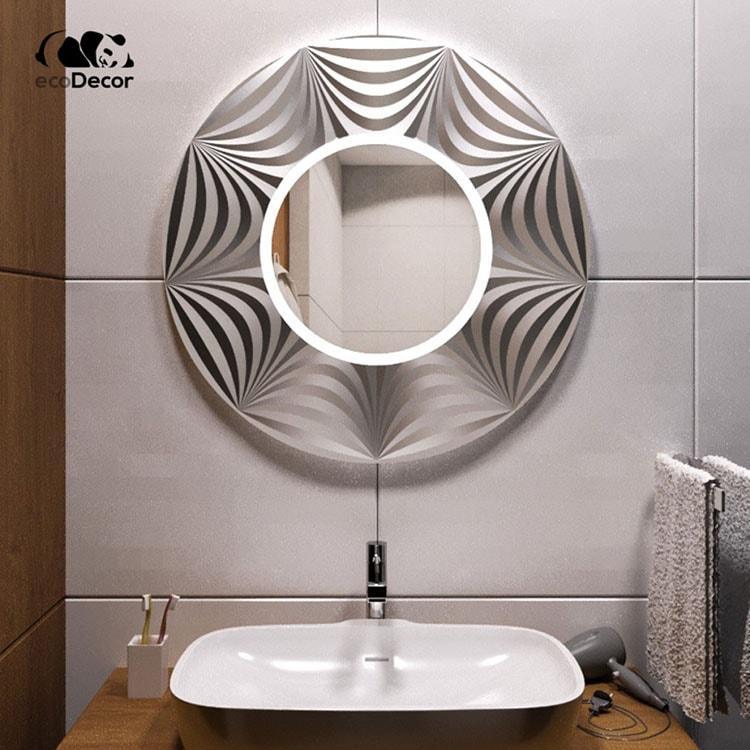 Зеркало в ванную серебряное Tallinn