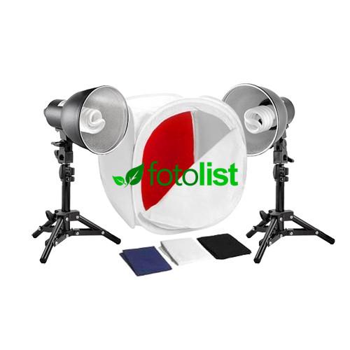 Набор для предметной съемки Visico FL-19 Easy Kit, 2х30w, 300 Вт, лайткуб 40х40х40см, 4 фона