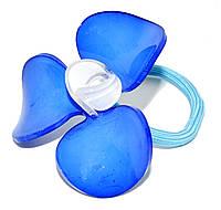 """Дитячий гумка для волосся """"Лілія"""" синя, фото 1"""