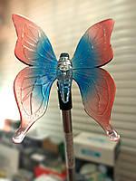 """Садовый газонный Led светильник на солнечной батарее """"Бабочка"""" RGB (плавная смена цвета)"""