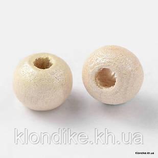 Бусины Деревянные, Окрашенные, Круглые, 5~6 мм, Цвет: Лимонный (330шт/25г)