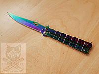 Нож бабочка №3 градиент / балисонг / раскладной / ніж розкладний метелик
