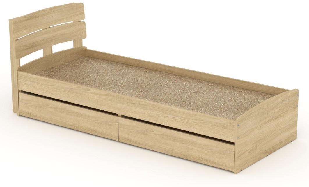 Кровать с 2 ящиками Модерн-80 КОМПАНИТ Дуб сонома (213.2х85.2х80 см)