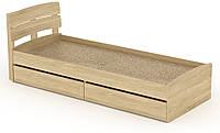 Кровать с 2 ящиками Модерн-80 КОМПАНИТ Дуб сонома (213.2х85.2х80 см), фото 1