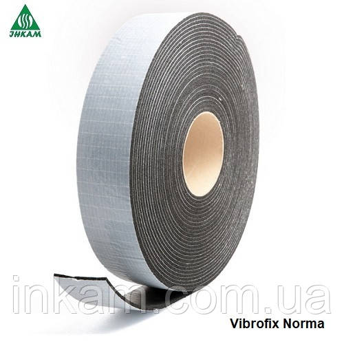 Звукоизоляционные ленты Виброфикс Норма 100х5мм, 25м/рул