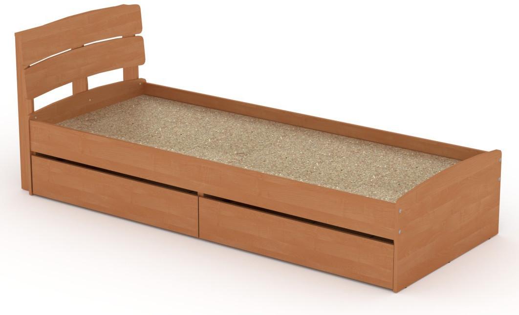 Кровать с 2 ящиками Модерн-80 КОМПАНИТ Ольха (213.2х85.2х80 см)
