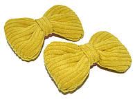"""Детские зажимы для волос """"бантик"""" желтый (2 шт)"""