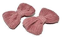 """Дитячі затискачі для волосся """"бантик"""" корал (2 шт), фото 1"""