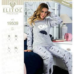 Пижама женская софт Elitol (Турция) 19509grey