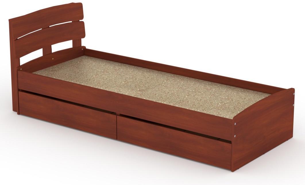 Кровать с 2 ящиками Модерн-80 КОМПАНИТ Яблоня (213.2х85.2х80 см)