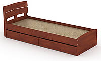 Кровать с 2 ящиками Модерн-80 КОМПАНИТ Яблоня (213.2х85.2х80 см), фото 1