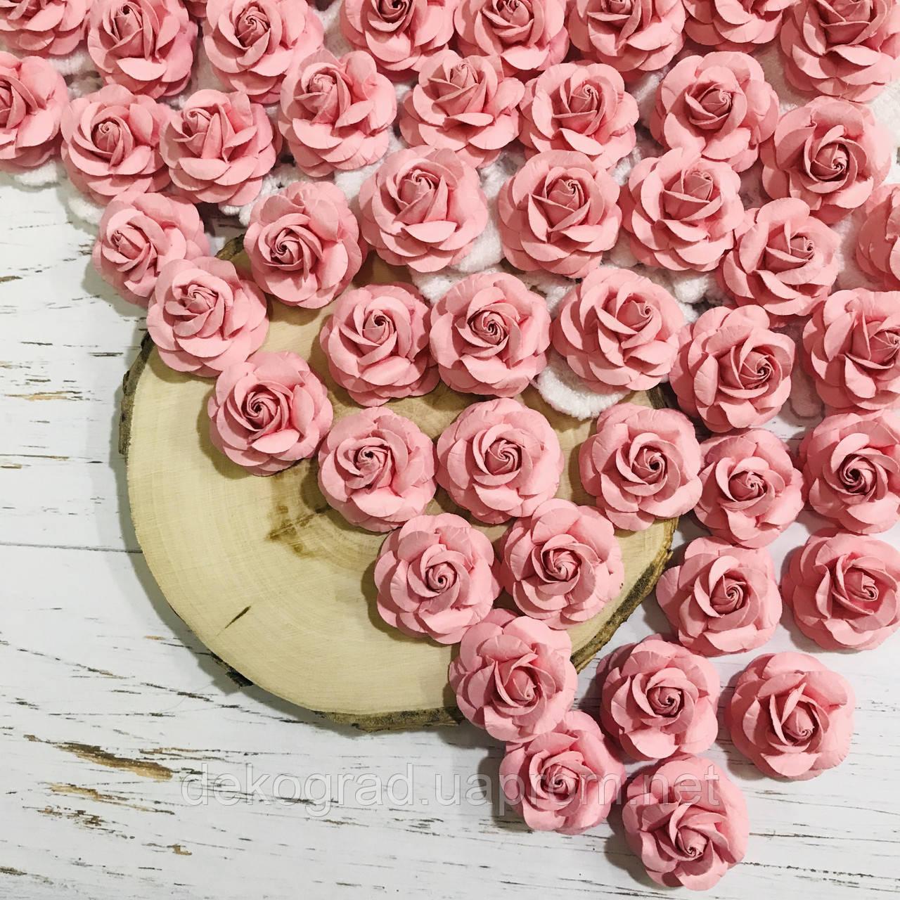 Роза розовая ДГ 25 мм