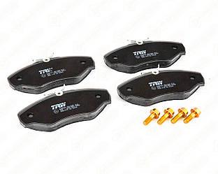 Дисковые тормозные колодки (передние) на Renault Trafic II 2001->2014 — TRW - GDB1478