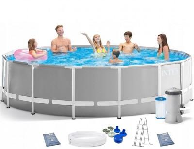 Каркасный бассейн Intex Prism Frame Pool 26706 305 см х 99 см с фильтрующим насосом и лестницей