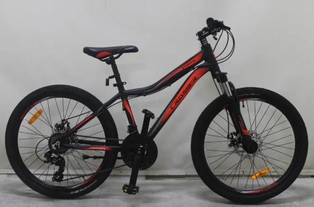 """Подростковый горный велосипед Crosser Streаm 24 дюймов размер рамы 14""""  BLACK-RED"""