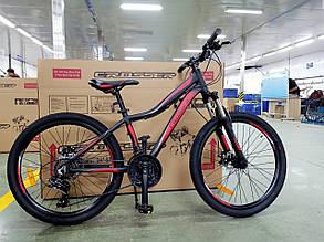 """Подростковый горный велосипед Crosser Streаm 24 дюймов размер рамы 14""""  BLACK-RED, фото 2"""