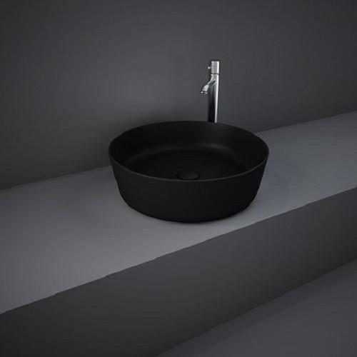 FEECT4200504A FEELING Раковина на столешницу, круглая, черная матовая, 42см