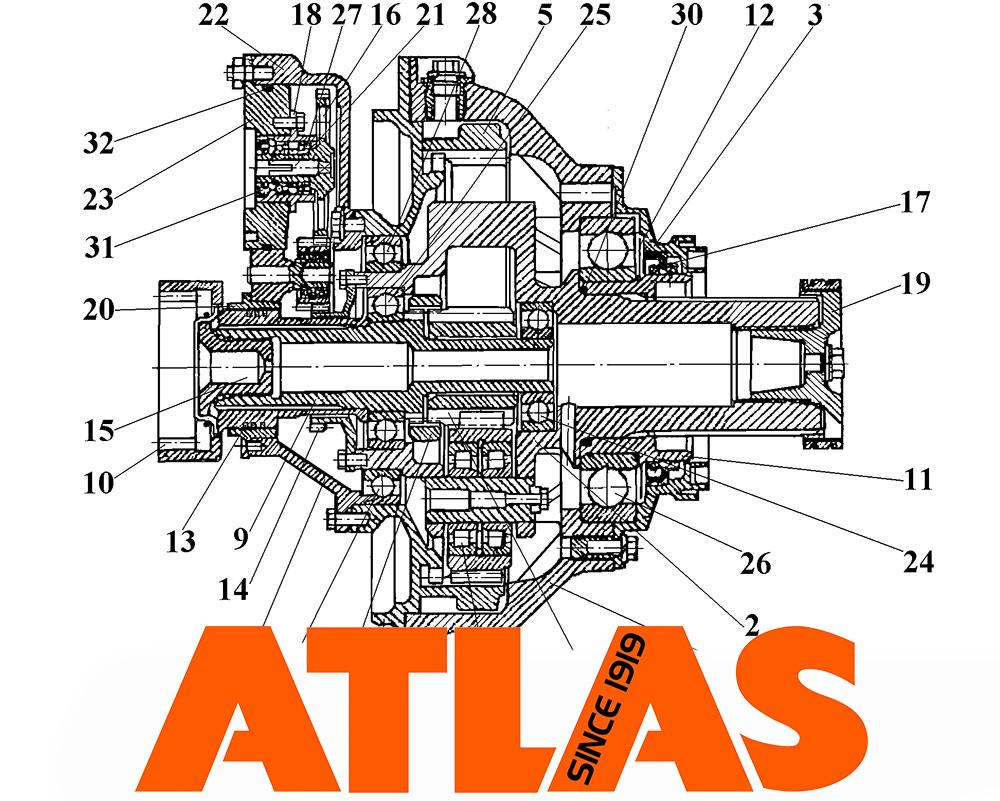 Бортовая передача для спецтехники Atlas