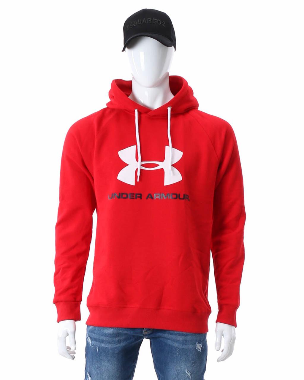 Худи осень-зима красный UNDER ARMOUR с лого Р-5 RED XXL(Р) 20-474-503