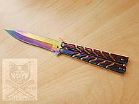 Нож бабочка №1 градиент / балисонг / раскладной / ніж розкладний метелик