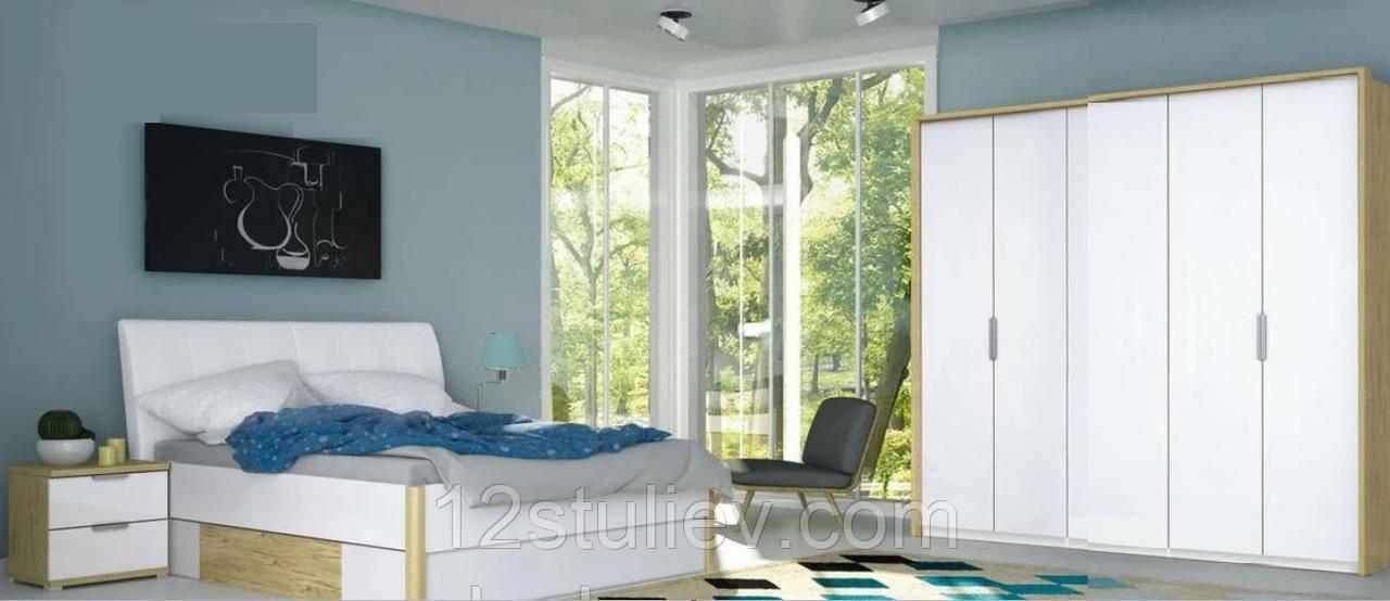 Спальный гарнитур Флоренция 5дв (Шкаф5двБез зеркал;Кровать 1,8;Тумба 2шх 2шт;Комод 3шх;Зеркало)